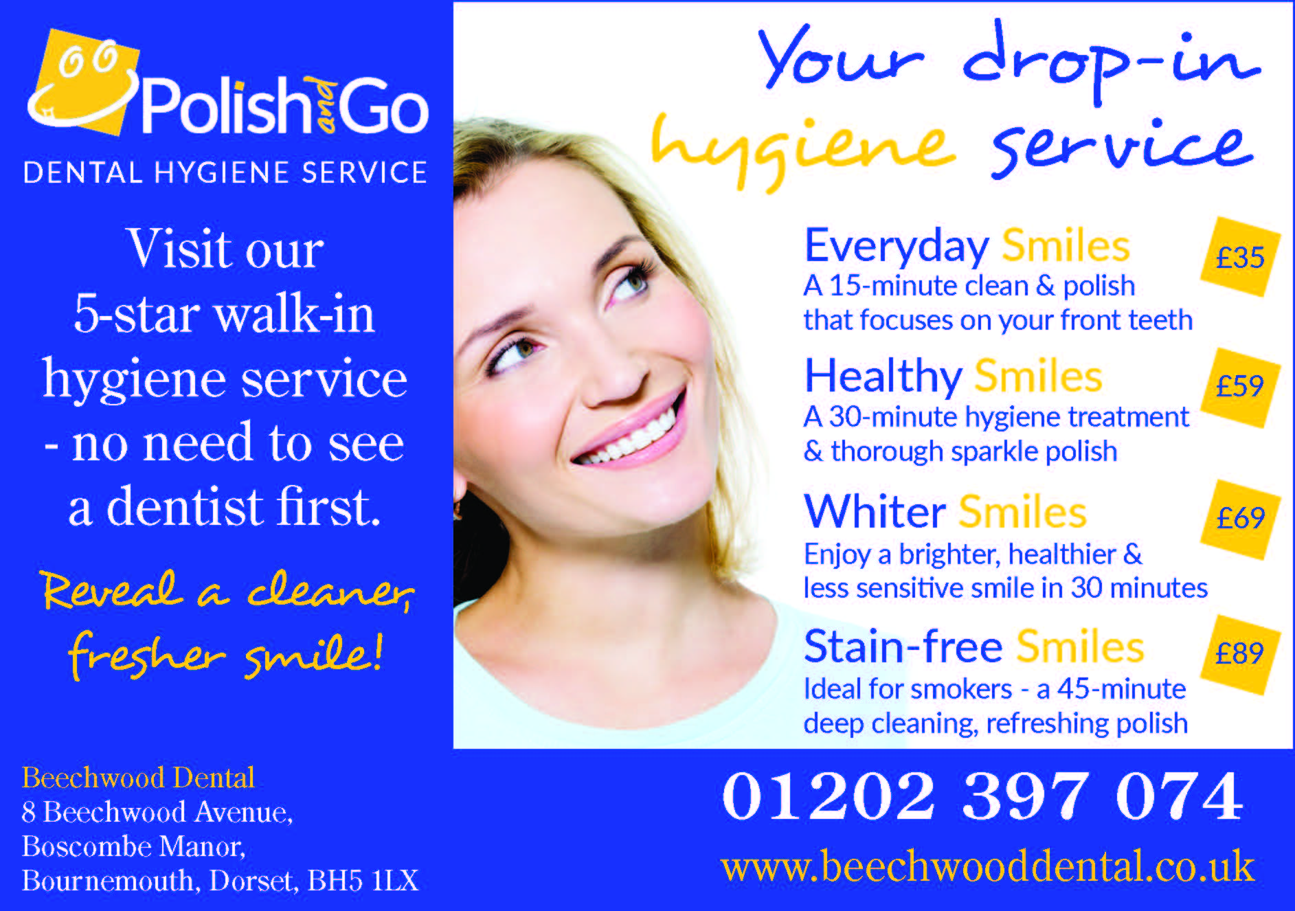 beechwood dental new bournemouth dental hygienist service beechwood dorset publications half page nps ad